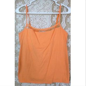 Coldwater Creek Womens Orange Cami Size S Lace